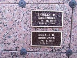 Shirley M <I>Webster</I> Drummond