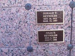 Donald T Reynolds