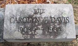 Carolyn W Davis