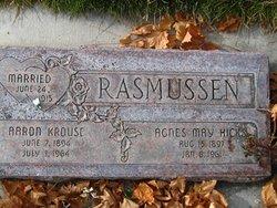 Agnes M <I>Hicks</I> Rasmussen