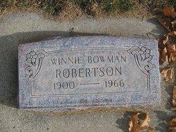 Winnie <I>Bowman</I> Robertson