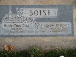 Violet Mary <I>Duke</I> Boise