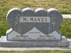 Betty Jean <I>Whiting</I> McManus