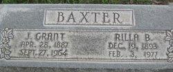 "Sarah Florilla ""Rilla"" <I>Burgess</I> Baxter"