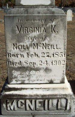 Virginia K. <I>McNatt</I> McNeill