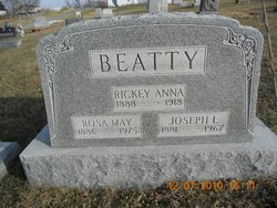 "Fredricka Anna ""Rickey"" <I>Ladman</I> Beatty"