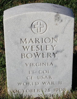 LTC Marion Wesley Bowery