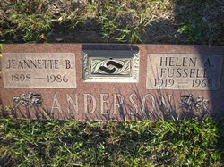 Helen A <I>Fussell</I> Anderson