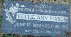 Bettie Ann Hixson