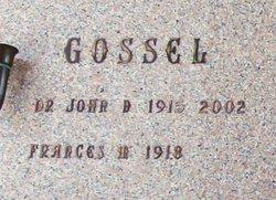 Dr John D. Gossel