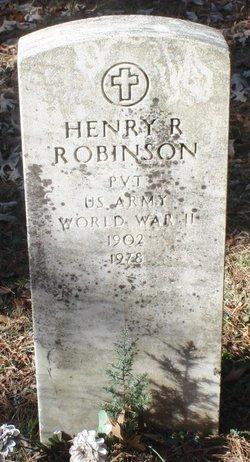 Pvt Henry R. Robinson