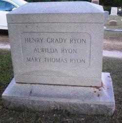 Mary <I>Thomas</I> Ryon