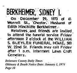Sidney I. Berkheimer