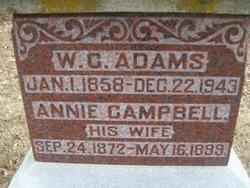 Annie <I>Campbell</I> Adams