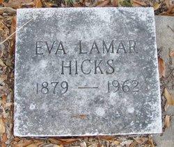 Eva <I>Lamar</I> Hicks