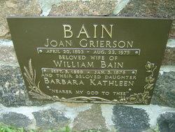 Joan <I>Grierson</I> Bain