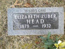 Elizabeth <I>Zuber</I> Head