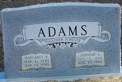 Margaret Rudell <I>Rhodes</I> Adams