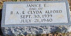 Janice E Alford