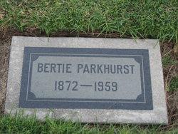 Bertie Josephine <I>Rowe</I> Parkhurst