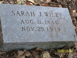 Sarah Jane <I>White</I> Wiley
