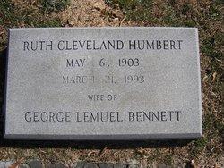 Ruth Cleveland <I>Humbert</I> Bennett