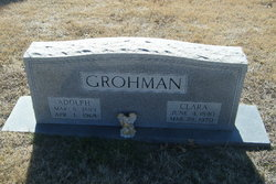 Clara <I>Goertz</I> Grohman