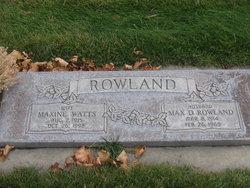 Max D Rowland