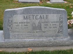 Zina <I>Robertson</I> Metcalf