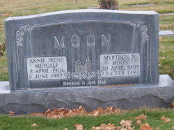 Annie Irene <I>Metcalf</I> Moon