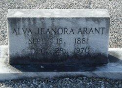 Alva Jeanora <I>Huggins</I> Arant