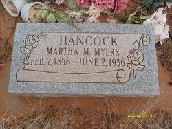 Martha Mariah <I>Myers</I> Hancock