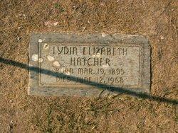 Lydia Elizabeth Hatcher