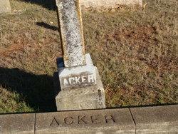 Martha <I>Mills</I> Acker