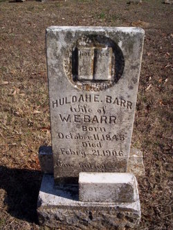 "Mahulda Elizabeth ""Huldah"" <I>Broadwater</I> BARR"