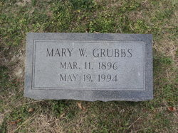 Mary Waters <I>Williams</I> Grubbs