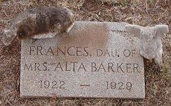 Frances <I>Gish</I> Barker