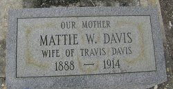 "Martha J. ""Mattie"" <I>Williams</I> Davis"