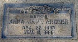 Anna Jane <I>Amyx</I> Archer