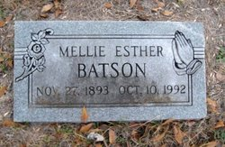 Mellie Esther <I>Massey</I> Batson