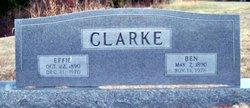 Effie C <I>Perkins</I> Clarke