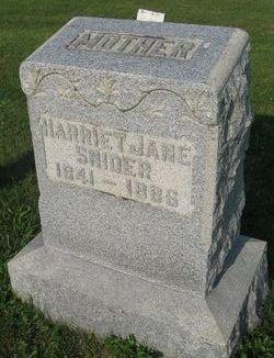 Harriet Jane <I>Wirick</I> Snider