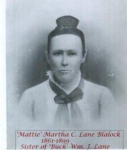 "Martha Cordelia ""Mattie"" <I>Lane</I> Blalock"