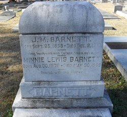Minnie Lewis <I>Sims</I> Barnett