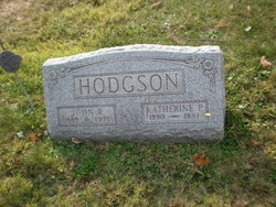 Katherine P <I>Parsons</I> Hodgson