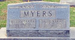 Sallie <I>Wright</I> Myers