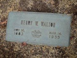 Henry W Walton