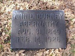 Annie <I>Burney</I> Abernathy