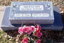 Mildred Peterson <I>Porter</I> Abernethy