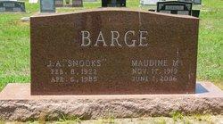 "J. A. ""Snooks"" Barge"